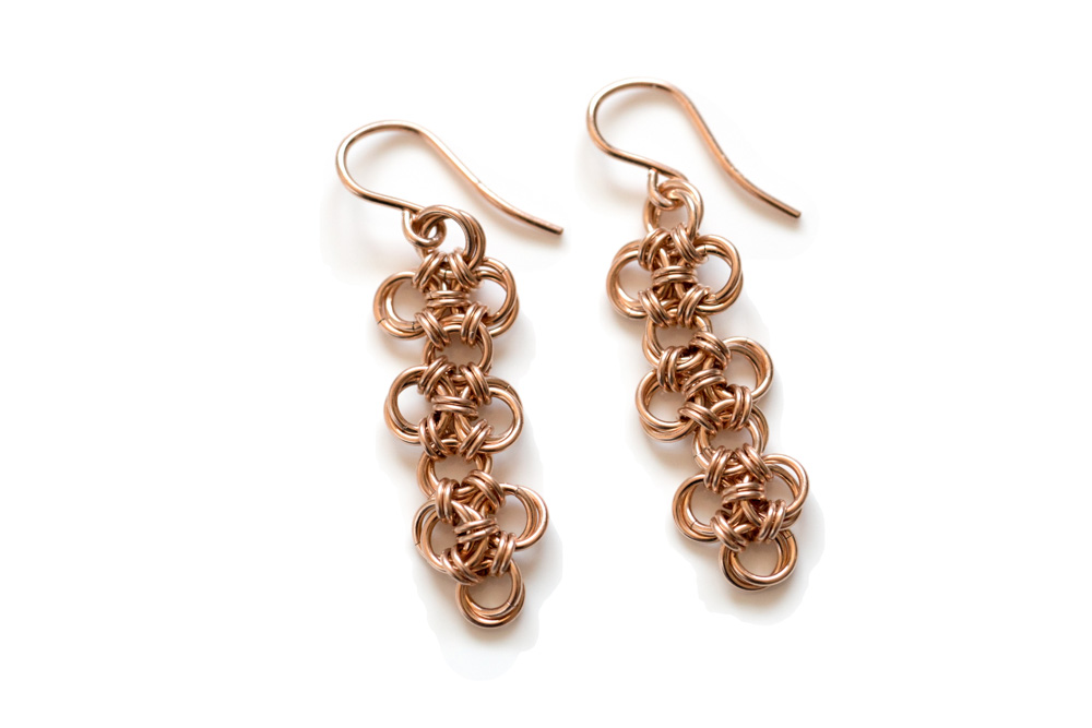Endless-14kt-gold-filled-Chinese-Knot-Chainmaille-Earrings-Hui-Designs