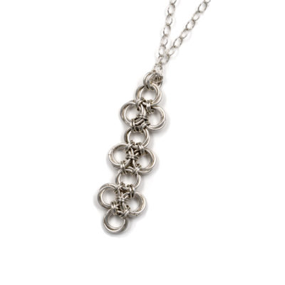 Lula-Endless-Sterling- Silver-Chinese-Knot-Chainmaille-Necklace-Hui-Designs
