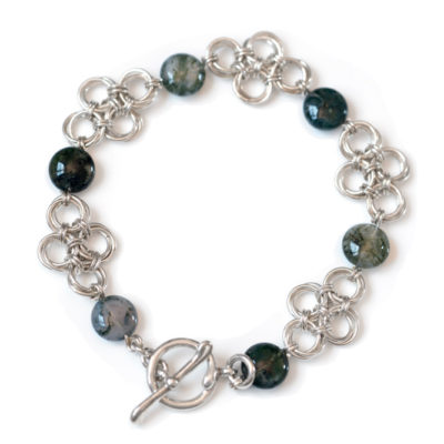 Moss-Agate-sterling-silver-chinese-knot-chainmaille-bracelet-hui-designs