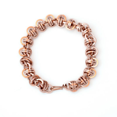 Bold-Square-Barrel-14kt-rose-gold-filled-Chainmaille-bracelet-Hui-Designs-new